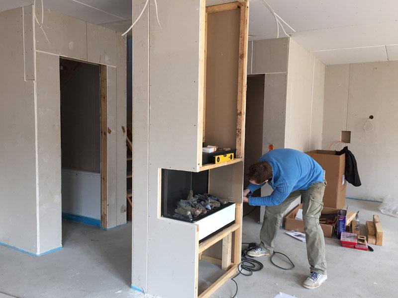 kw 12 trockenbau kamin inbetriebnahme pv sonstige arbeiten suckf ll bautagebuch aus dem. Black Bedroom Furniture Sets. Home Design Ideas