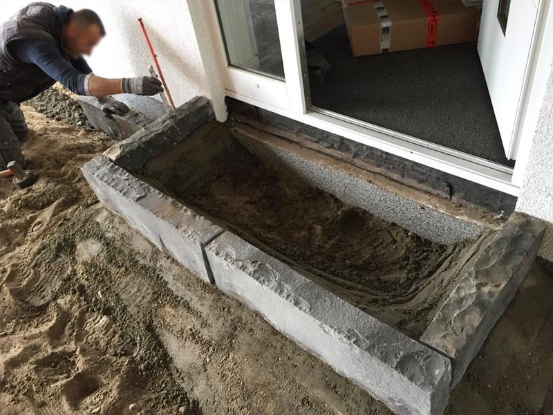 gartengestaltung pflasterung einfahrt terrasse suckf ll bautagebuch aus dem solardorf in. Black Bedroom Furniture Sets. Home Design Ideas
