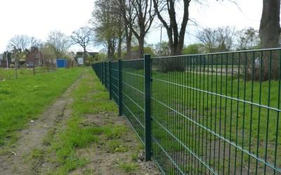 Hecken angepflanzt und Zaun gesetzt